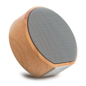 A60 Hout textuur Draadloze Bluetooth Speaker - Mini Subwoofer Grijs
