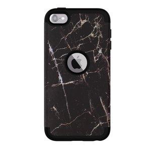 Armor Hoesje Anti-dust Marble iPod Touch 5 6 7 - Zwart marmer
