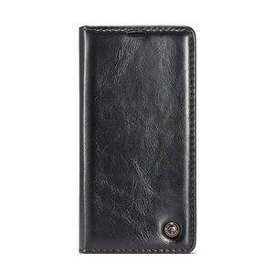 Caseme Kunstleer Wallet pasjeshouder hoesje iPhone XS Max case - zwart