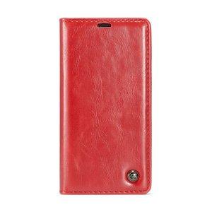 Caseme Kunstleer Wallet pasjeshouder hoesje iPhone XS Max case - rood