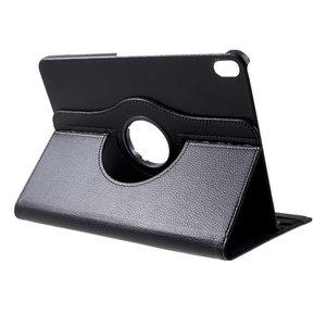 Lederen Litchi Grain hoes draaibaar standaard iPad Pro 11-inch 2018 - Zwart