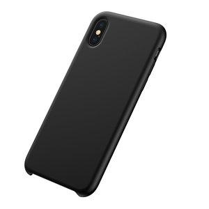 Baseus Original LSR Series Liquid Silicone Gel Case iPhone XS Max Hoes - Zwart