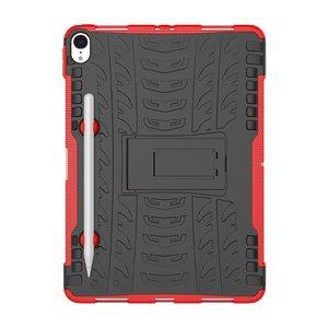 Hybride TPU Polycarbonaat iPad Pro 11-inch 2018 Case Hoes - Profiel Rood Standaard