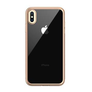 LEEU Design Gold iPhone XS Max hybride silicone TPU case - Goud Transparant