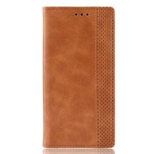 Vintage Wallet Stijl Kunstleer leder Cover Case iPhone XS Max hoesje - Bruin