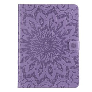 Zonnebloem Lederen iPad Pro 11-inch 2018 Case Hoes Wallet - Paars