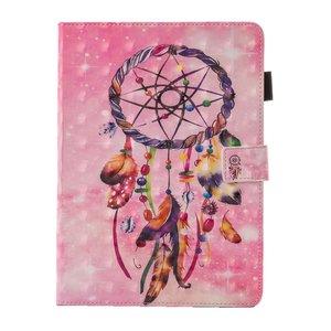 Dromenvanger veren flipcase leder hoes iPad mini 1 2 3 4 5 - Roze