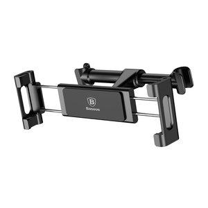 Baseus Auto Car Hoofdsteunhouder Rotatie Mobiele Telefoon-Tablet 4.7-12.9 inch - Zwart