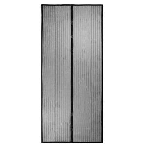Magnetisch sluitbare Vliegengordijn Horgordijn tegen muggen en vliegen Deurhor - Zwart 100x210cm