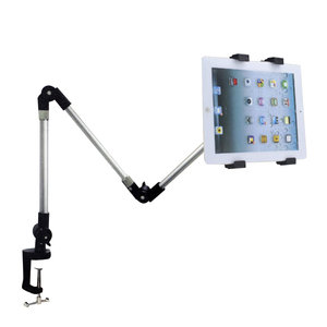 Universele Tablethouder Tafelarm 3 opzetstukken - Aluminium 360 graden draaien