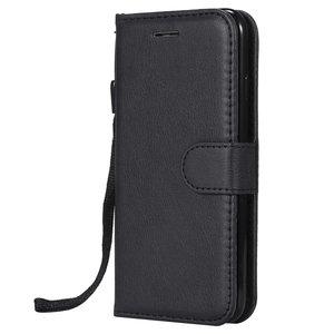 iPhone 7 8 Kunstlederen Bookcase Wallet - Zwart