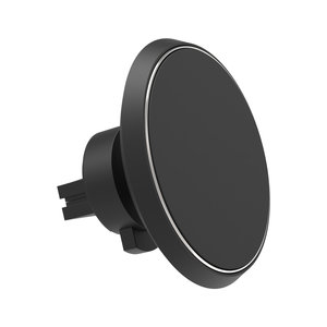 X-Moove auto ventilatierooster telefoonhouder draadloos opladen - Zwart