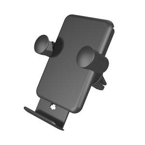 Zens Autohouder Ventilatierooster met ingebouwde draadloze oplaadpad - 5W Zwart