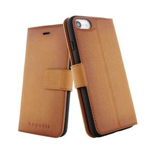Bugatti hoesje flipcase wallet lederen iPhone 6 6s 7 8 - Cognacbruin