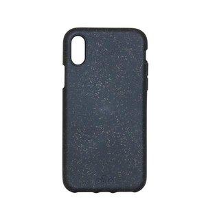 Pela Eco Milieuvriendelijk Case Biologisch Afbreekbaar Beschermend Hoesje iPhone X XS - Zwart