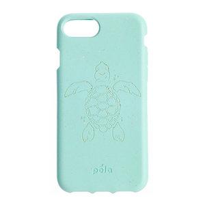 Pela Eco Milieuvriendelijk Case Biologisch Afbreekbaar Beschermend Hoesje iPhone 6 6s 7 8 SE 2020 - Schildpad Turquoise
