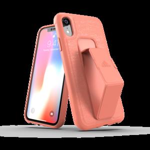 adidas grip case standaard valbestendig TPU hoesje iPhone XR - Koraal Roze