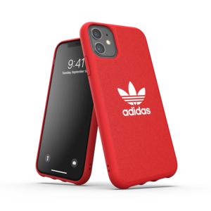 adidas Moulded case canvas hoesje iPhone 11 - Rood