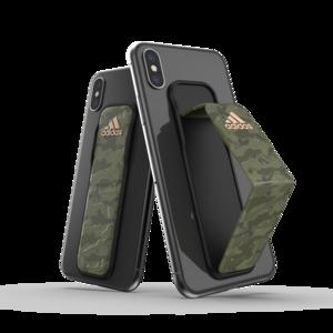 adidas Sport universeel vinger grip band smartphone camouflage size L - Groen