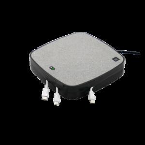 X-Moove Oplaadstation 3x USB-A 1x USB-C poort 10W Qi Draadloze Oplaadpad - Grijs