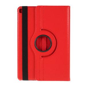 Litchi Textuur Lederen iPad 10.2 inch case met cover - Rood Bescherming Standaard