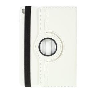 Litchi Textuur Lederen iPad 10.2 inch case met cover - Wit Bescherming Standaard