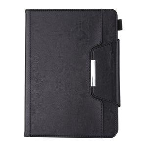 Wallet Portemonnee Hoes Case met Metalen Sluiting en Pensleuf voor iPad 10.2 inch - Zwart