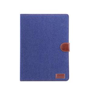 Wallet Portemonnee Hoes Case Jeansstofprint Kunstleer voor iPad 10.2 inch - Donkerblauw