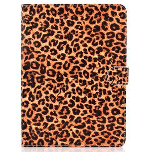 Hoes Case Wallet Portemonnee Luipaardprint Kunstleer voor iPad 10.2 inch, iPad Pro 10.5 en iPad Air 3 10.5 inch - Oranje Zwart Beige