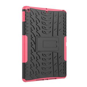 Bandprofiel hoes grip kickstand TPU kunststof iPad 10.2 inch - Roze