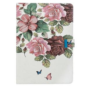 Wallet Portemonnee Hoes Case Kunstleer Bloemen Natuur voor iPad Pro 10.5 inch iPad Air 3 10.5 inch iPad 10.2 inch - Roze