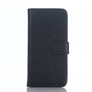 Lederen Wallet iPod Touch 5 6 7 generatie Bookcase hoesje - Zwart