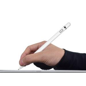 Anti-touch handschoen sleeve Apple Pencil Samsung Stylus - Zwart Rechterhand