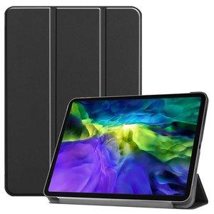 Just in Case Lederen Smart Tri-fold Cover met Case iPad Pro 11 inch 2018 - Zwart