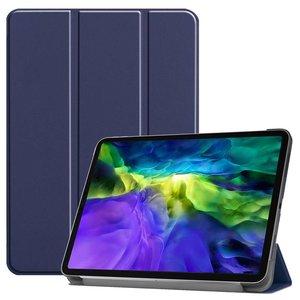 Just in Case Lederen Smart Tri-fold Cover met Case iPad Pro 11 inch 2018 - Blauw