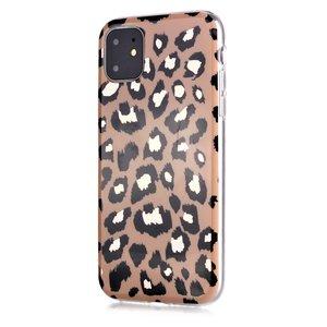 Luipaardprint TPU hoesje voor iPhone 12 en iPhone 12 Pro - beige