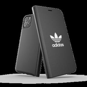 adidas Originals kunststof booklet hoesje voor iPhone 11 Pro Max - zwart met wit