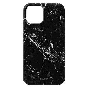 LAUT Huex kunststof hoesje voor iPhone 12 en iPhone 12 Pro - zwart marmer