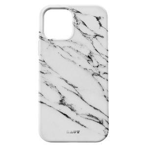 LAUT Huex kunststof hoesje voor iPhone 12 en iPhone 12 Pro - wit marmer