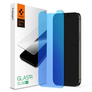Spigen Glassprotector Anti Blauwlicht iPhone 12 en 12 Pro - Bescherming
