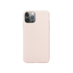 Xqisit Silicone case Anti Bac silicone hoesje voor iPhone 12 en iPhone 12 Pro - roze