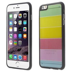 Doorzichtig gekleurd iPhone 6 Plus iPhone 6s Plus hoesje Regenboog Strepen