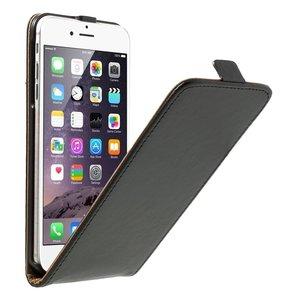 Zwarte lederen flipcase iPhone 6 Plus 6s Plus Klaphoesje leer Leder cover