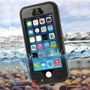 Waterdicht Hoesje iPhone 5 5s SE Waterproof hardcase - IP68 - Zwart
