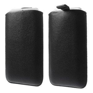 Lederen insteekhoesje iPhone 6 6s 7 8 Zwarte inschuif hoesje Leder