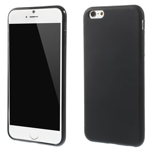 Effen zwart TPU hoesje iPhone 6 Plus 6s Plus silicone cover Black