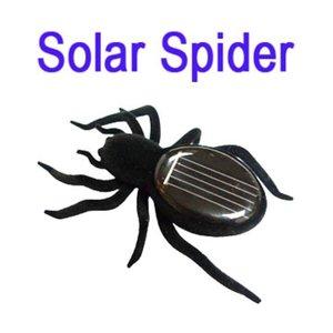 Zwarte speelgoed spin op zonne-energie Solar Powered spider spinnetje
