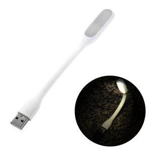 Draagbare USB LED 2.0 lamp Flexibel portable Bureaugadget wit lampje