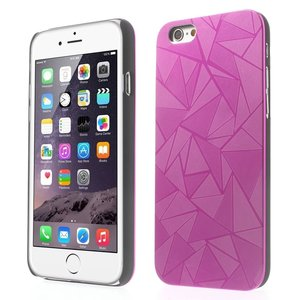 Aluminium triangle hoesje iPhone 6 Plus 6s Plus Roze hardcase Driehoek cover