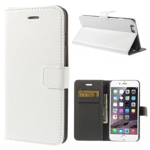 Lederen portemonnee hardcase Bookcase iPhone 6 Plus 6s Plus Witte wallet